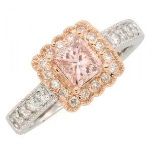Fancy Pink Lab Created Diamond Ring