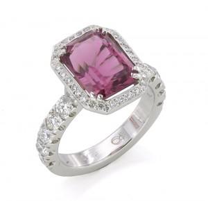Custom Pink Tourmaline Ring