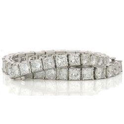 18ct t.w. Radiant Cut Diamond Tennis Bracelet