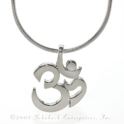 Simple Gold Om Necklace