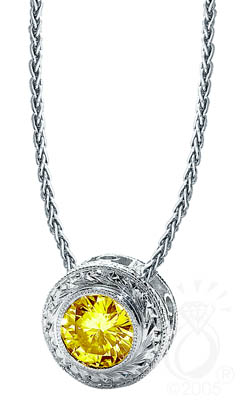 Style 9026 filigree necklace showing a Gemesis cultured diamond