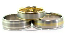 Titanium rings with gold