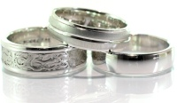 White gold men's wedding rings