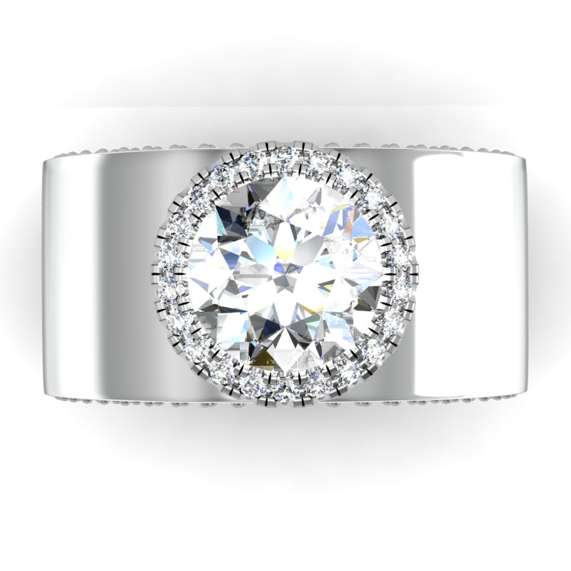 setting diamond band engagement ritani prongless is wedding blog what a jewelry shared prong rings