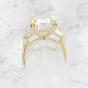 Radiance® antique asscher and bullet cut engagement ring_07-12