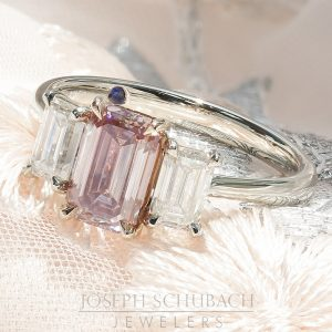 Radiance® Barely Pink Three Stone Emerald Cut Ring_10 17-32-57