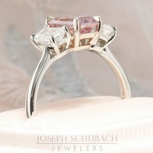 Radiance® Barely Pink Three Stone Emerald Cut Ring_17-48-51