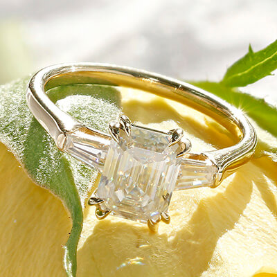 Three Stone Ring - Top View