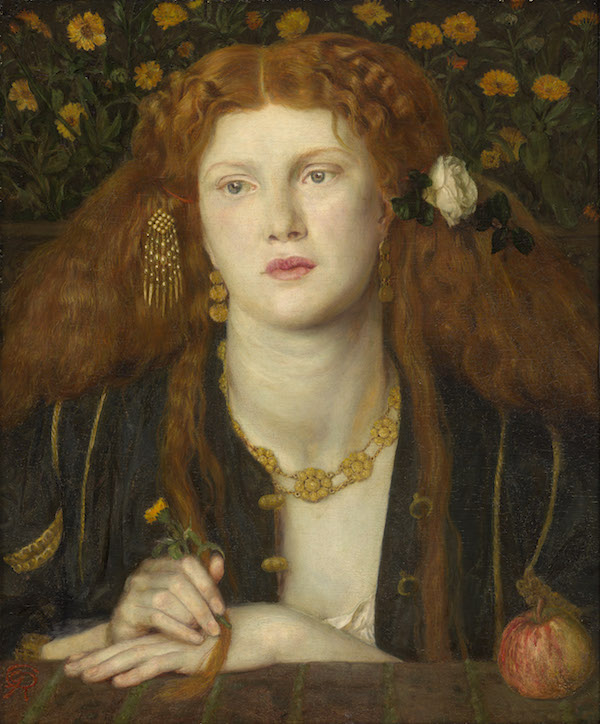 Bocca Baciata (Lips That Have Been Kissed) Dante Gabriel Rossetti (English, 1828–1882) 1859 Oil on panel * Gift of James Lawrence * Photograph © Museum of Fine Arts, Boston