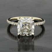 Radiance® Old Mine Cut Yellow Gold Pave Engagement Ring
